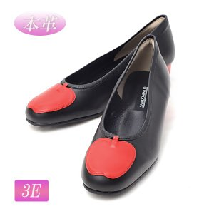 サン ドメニコ SAN DOMENICO リンゴモチーフ コンフォート パンプス 3E 本革 マット ブラック 日本製 靴 レディース J004 アウトレット メーカー在庫処分|pendant