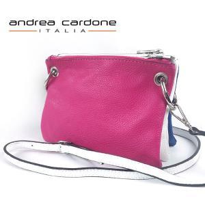 イタリア製 ショルダーバッグ andrea cardone ITALIA レザー 本革 レディース BAG アンドレア カルドーネ 組み合わせ 自由自在 ピンク ホワイト ブルー|pendant