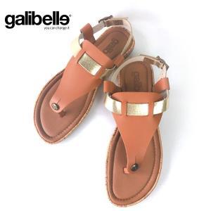 サンダル galibelle ガリベル KARINA キャメル トング レディース フラットシューズ 変身 甲ベルト 革 3種類 ストラップ 付け替え可能 galibelle-002|pendant