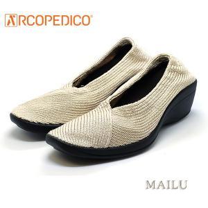 アルコペディコ ARCOPEDICO MAILU マイル ベージュ エリオさんの靴 クラシックライン ニットアッパー 4.5cmヒール ポルトガル製|pendant