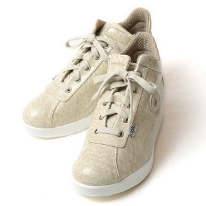 ルコライン スニーカー アージレ agile RUCO LINE 靴 Baby Croco ベビークロコ アイボリー色 /ホワイトソール agile-112IVWH サイドファスナー付き 数量限定品|pendant