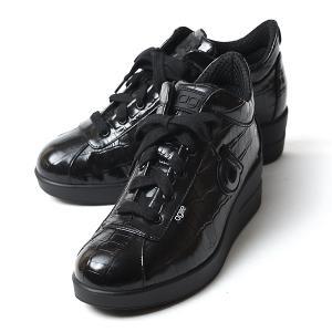 ルコライン 靴 アージレ バイ ルコライン agile-044 NEXUS クロコ型押し 合皮 ブラ...