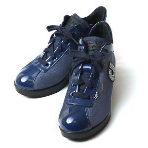 ルコライン 靴 アージレ バイ ルコライン agile-049 JEANS STRASS 生地 × ...