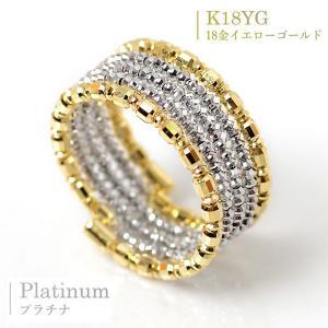 18金 プラチナ リング ミラーボール コイル リング スパイラル 最大5連調 指輪 形状記憶ワイヤー入り フリーサイズ K18 ゴールド Pt850 プラチナ 5連リング pendant