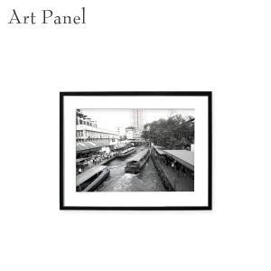 アート写真 パネル 街 タイ モノクロ モダン 壁掛け 白黒 アクリル インテリア 絵画 ポスター