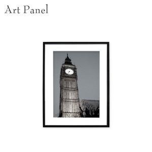 壁掛け インテリア アートパネル ロンドン イギリス 写真 おしゃれ 街並み 額縁 絵画 モノクロ ...