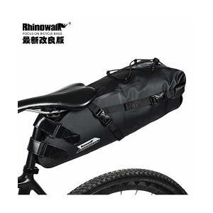 Rhinowalk サドルバッグ ロードバイク 防水 自転車 サドルバック 大容量 10L PVC加工 (ブラック 改良版)|penguin-design