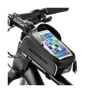 ROCKBROS(ロックブロス) トップチューブバッグ 自転車 バッグ フレームバッグ スマホホルダー 大容量 防水 6.0インチスマホ対応|penguin-design
