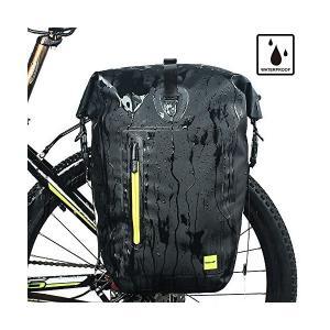 Rhinowalk 自転車 防水 パニアバッグ リアバッグ サイドバッグ 大容量 軽い 収納力抜群 高級感溢れる ブラック&グリーン|penguin-design