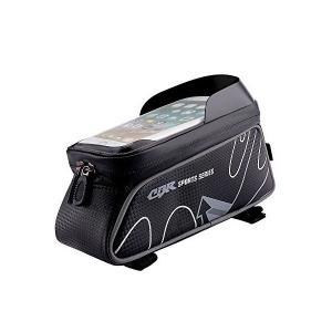 自転車 サドルバッグ ロードバイク バッグ, Akpati 自転車 スマホ ホルダー サイクルバッグ サイクリング フレームバッグ 大容量防水 フロ|penguin-design