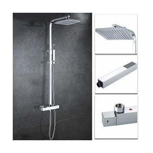 Hootech シャワーヘッド セット オーバーヘッド ステンレス 水圧 アップ 強い シャワー レインシャワーヘッド 節水 高水圧 降雨型 高品質 penguin-design