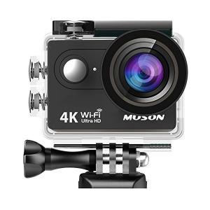 【進化版】MUSON(ムソン)アクションカメラ 4K高画質 手振れ補正 WiFi搭載 外部マイク対応...