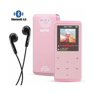 AGPTEK Bluetooth4.0 MP3プレーヤー スピーカー搭載 音楽プレーヤー HiFi音...