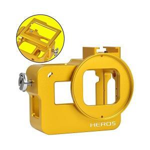 [MENGS] アルミ合金の保護枠のハウジングケース 52mmのUVフィルターとレンズキャップ付き ...