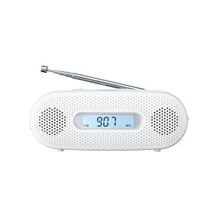 パナソニック ラジオ FM/AM/ワイドFM対応 手回し充電対応 ホワイト RF-TJ20-W パナ...