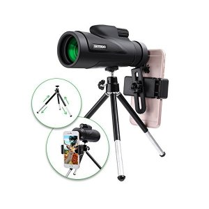 OUTERDO 単眼鏡 望遠鏡  12x50高倍率 スマホ撮影  昼夜兼用 軽量 望遠レンズ用クリッ...
