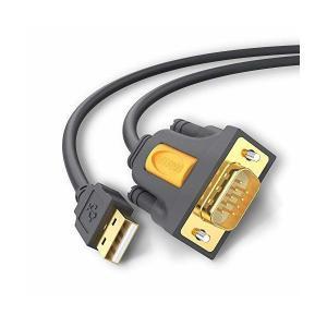 UGREEN USB シリアル変換ケーブル RS232 USB 9ピン 変換 シリアルケーブル D-...