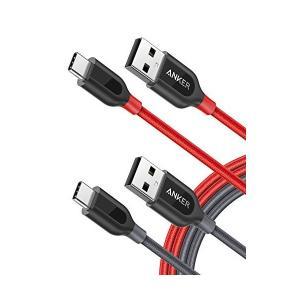 【2本セット】Anker PowerLine+ USB-C & USB-A 2.0 ...