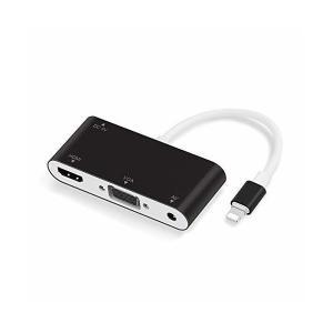 CASAFE Lightning to HDMI VGA 変換 アダプタ Digital AV変換ア...