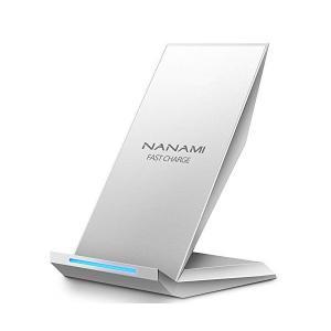 Qi 急速 ワイヤレス充電器 NANAMI Quick Charge 2.0 二つのコイル Qi認証...