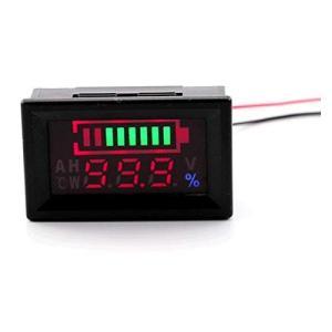 デジタル電圧計 バッテリー残量測定 電圧モニター 12Vセットアップ済 防水機能