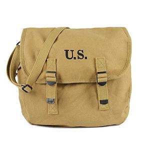 タクティカル ガスマスクバッグ ショルダーバッグ メッセンジャーバッグ 帆布製 米軍 2WAYバッグ...