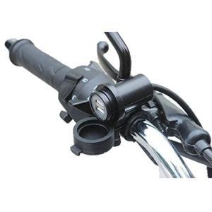 バイクのハンドルに取り付け可能なUSB充電ソケット 2カ所のソケットでスマホやデジカメなど同時充電可...