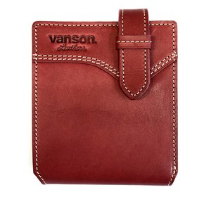 VANSON フラップショートウォレット  VP-115-12 レッド&ブラック|penguin-onlineshop1
