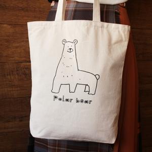キューブ しろくま トートバッグ ( トートバッグ ファッション 大容量 かばん カバン 白熊 鞄 penguin-to