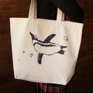 泳ぐ ペンギン BIG トートバッグ ( トートバッグ ファッション 大容量 ) penguin-to