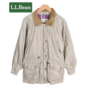 【SALE】L.L.BEAN エル・エル・ビーン / アウトドア コットン キルティングジャケット / ベージュ / レディースXL相当|penguintripper2
