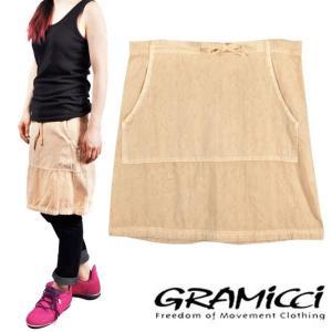 【SALE】GRAMICCI グラミチ / アウトドア スカート / ベージュ / Mサイズ相当|penguintripper2