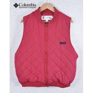 【SALE】Columbia コロンビア / 中綿入りキルティングベスト / レッド / メンズL|penguintripper2