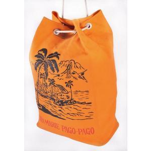 【SALE】ヴィンテージ 1960年代頃 日本製 / SAMOA サモア PAGO-PAGO パゴパゴ / ダッフルバッグ / オレンジ|penguintripper2