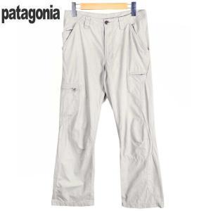 【SALE】2006年製(S6) / patagonia パタゴニア / オーガニックコットン アウトドアパンツ ロングパンツ / ライトグレー / W28|penguintripper2