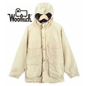 【SALE】ヴィンテージ 1980年代 USA製 / WOOLRICH ウールリッチ / マウンテンパーカ / アウトドアジャケット / ベージュ / メンズM|penguintripper2