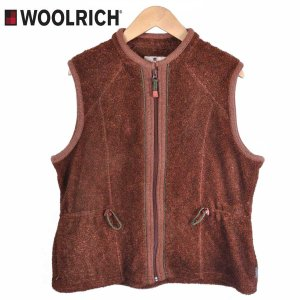 【SALE】WOOLRICH ウールリッチ / フリースボアベスト パイルフリース / オレンジブラウン / レディースL|penguintripper2