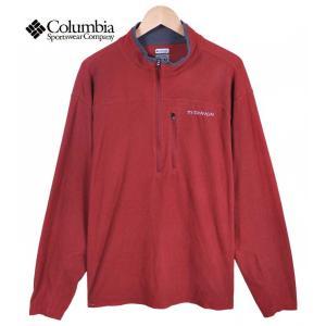 【SALE】Columbia コロンビア / TITANIUM タイタニウム / 薄手 ハーフジップ フリース カットソー / ブリックレッド / メンズXL相当|penguintripper2