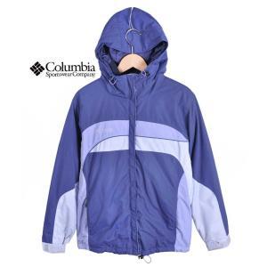 【SALE】Columbia コロンビア / フード付 アウトドア ナイロンジャケット マウンテンパーカ / ブルーグレー×ペールラベンダー / レディースM penguintripper2