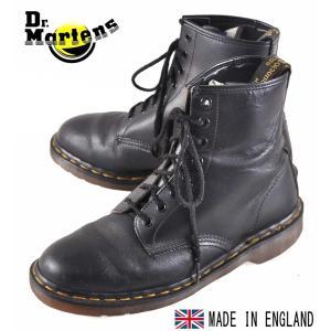 イングランド製 ヴィンテージ / Dr.martens ドクターマーチン / 8ホールブーツ / ブラック レザー / UK7 JPN26.0cm penguintripper2