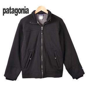 2004年製(F4) patagonia パタゴニア Boiler Plate Jacket ボイラープレートジャケット 内側パイルフリース ソフトシェルジャケット ブラック メンズS相当|penguintripper2