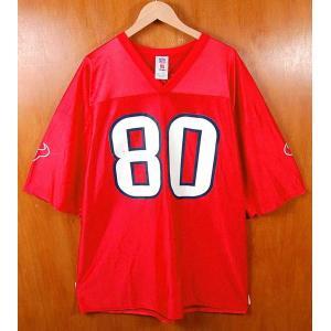 ビッグサイズ NFL PLAYERS NFL Houston Texans ヒューストン・テキサンズ アンドレ・ジョンソン フットボールシャツ ナンバリング ユニフォーム メンズ3XL相当|penguintripper2