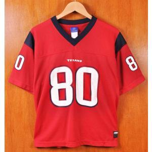 Reebok リーボック NFL Houston Texans ヒューストン・テキサンズ アンドレ・ジョンソン フットボールシャツ ナンバリング メッシュ ユニフォーム メンズL|penguintripper2