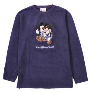 Disney ディズニー ミッキーマウス&ミニーマウス スウェット ネイビー メンズS|penguintripper2