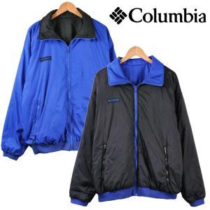 ヴィンテージ Columbia コロンビア リバーシブル 中綿 アウトドア ナイロンジャケット ブラック×ブルー メンズL penguintripper2