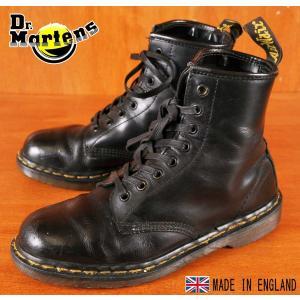 イングランド製 ヴィンテージ Dr.martens ドクターマーチン 8ホールブーツ ブラック レザー UK6 25.0cm penguintripper2