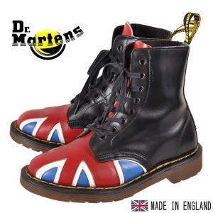 英国製 ヴィンテージ オリジナルユニオンジャック Dr.martens×GEORGECOX ドクターマーチン×ジョージコックス 8ホールブーツ イギリス国旗柄 UK3 JPN22.0cm|penguintripper2