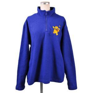DISNEY ディズニー くまのプーさん ハーフジップ フリースジャケット ブルー レディースL相当|penguintripper