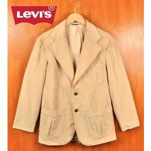 ヴィンテージ 1970年代 Levi's リーバイス テーラードジャケットスタイル 2つボタン コーデュロイジャケット ベージュ メンズM相当|penguintripper
