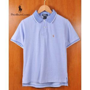 Polo Ralph Lauren ポロ ラルフローレン 半袖 ポロシャツ ライトブルーラベンダー×ブルーラベンダー レディースS相当|penguintripper